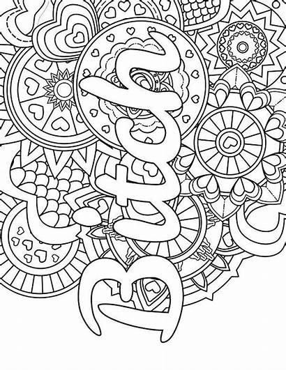 Coloring Swear Pages Adult Mandala Printable Words