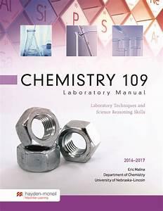 Chemistry 109 Laboratory Manual  2016