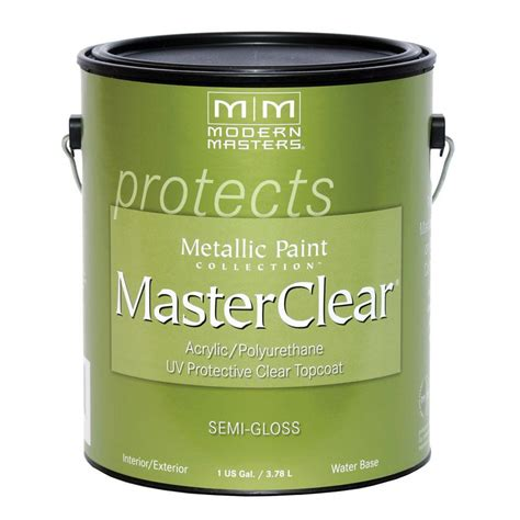 modern masters masterclear 1 gal gloss clear water based interior exterior protective