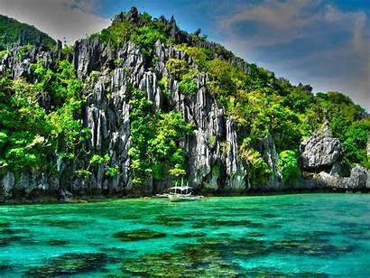 Philippines Wallpapers Palawan Desktop Nido Tapety Filipiny