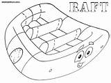 Raft Coloring Pages sketch template