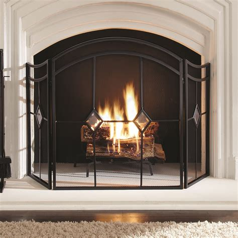 pleasant hearth diamond fireplace screen ghp group