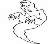 Dessin Qui Fait Tres Peur : coloriage dessin d un vieux fantome use dessin ~ Carolinahurricanesstore.com Idées de Décoration