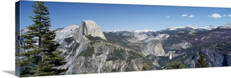 High Angle View Mountain Range Half Dome Nevada