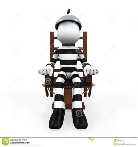 afbeelding elektrische stoel illustratie van een gevangene in een elektrische stoel