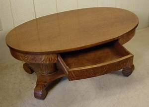 oval oak coffee table With oval coffee table with drawer