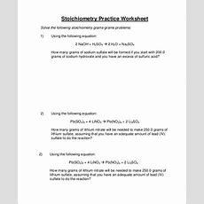 Sample Stoichiometry Worksheet  9+ Examples In Word, Pdf
