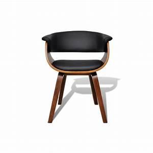 fauteuil design cuir et bois idees de decoration With fauteuil cuir bois design
