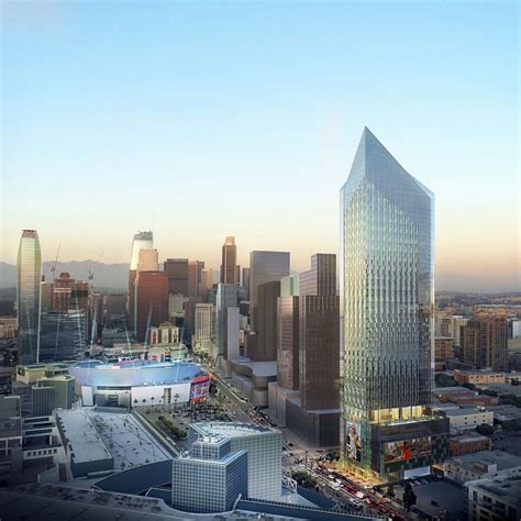 53 story hotel tower planned near l a convention center