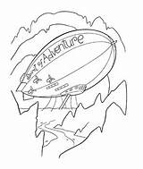 Coloring Airships sketch template
