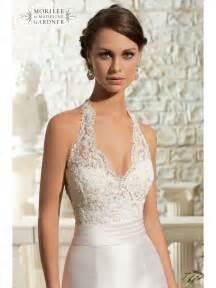 wedding garters mori 5311 lace halterneck fishtail gown designer back