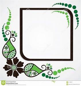 Green Flower Leaf Frame Background Stock Image - Image ...
