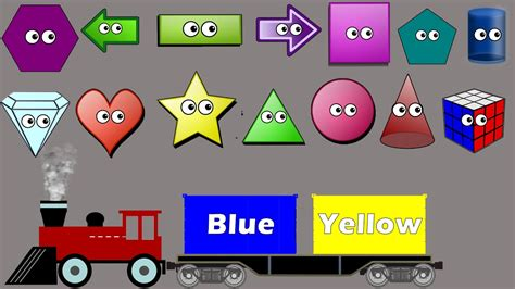 shapes colors sorting song  kids colors train