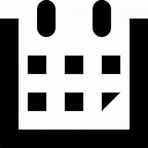 simple calendar icon in black Icons | Free Download