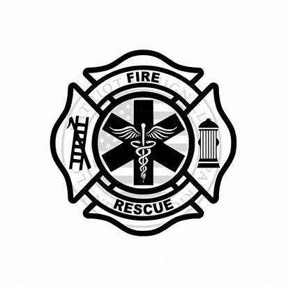 Maltese Cross Fire Rescue Clip Firefighter Department