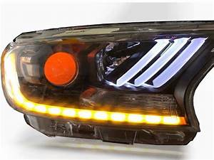 Projector Headlights Lamps Led Daytime For Ford Ranger Mk2