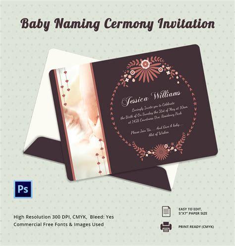 naming ceremony invitations  psd  format