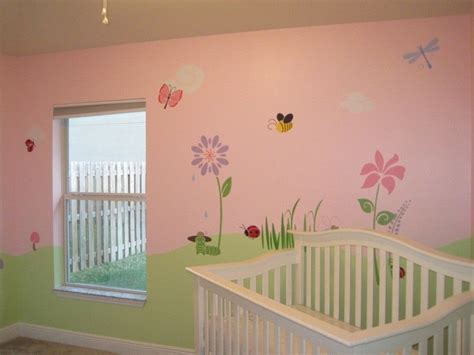 Flower Stencils For Girls Room And Baby Room Wall Mural