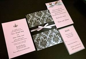 the quotwhitneyquot classic and romantic blush pink silver With black white and blush wedding invitations