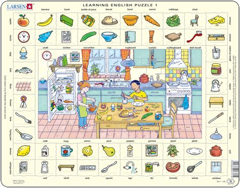 cuisine en anglais puzzle cadre apprendre l 39 anglais 1 dans la cuisine en