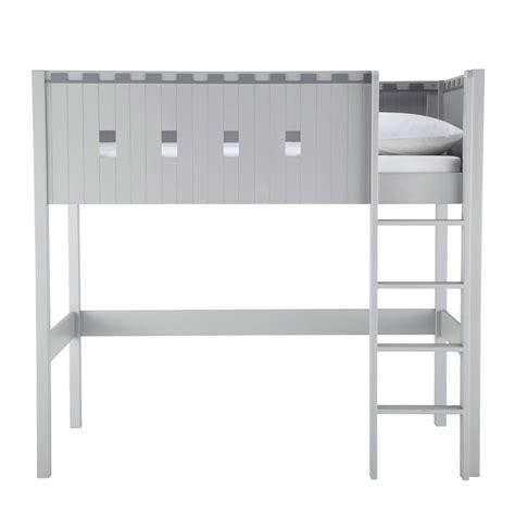 chambre petit espace lit mezzanine enfant gris chevalier maisons du monde