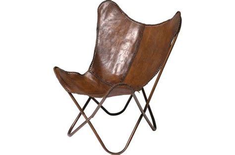 fauteuil transat cuir de vache clarabelle fauteuil