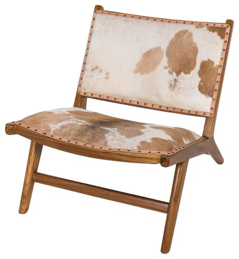 Cowhide Accent Chair by Harley Low Rider Cowhide Lounge Chair Brown Asian