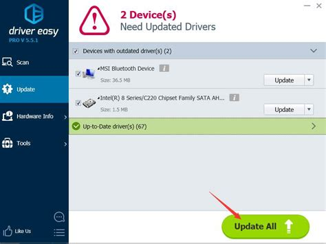 how to update msi motherboard drivers for windows 10 7 8 driver easy