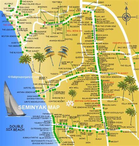 bali map  seminyak baligrouporganizer summer trip