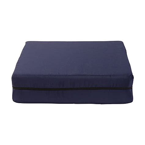 dmi foam seat cushion with cover 4 h x 18 w x 16 d navy by
