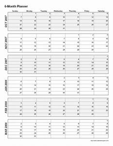 8 best images of 2015 printable calendar 6 months per page With calendar template 3 months per page
