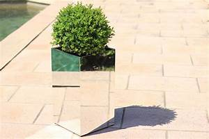 planter 49x49x100 cm high mirror tendance miroir design With miroir 100 x 120