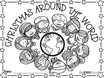 Christmas Around The World Coloring Sheets Printable