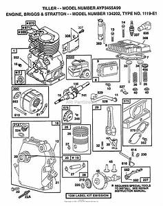 Ayp  Electrolux 3455a99  1999  Parts Diagram For Briggs And