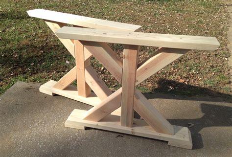 farmhouse trestle table legs  frame table legs wood table