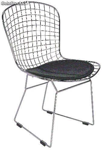 chaise métallique chaise design métallique assise en simili cuir