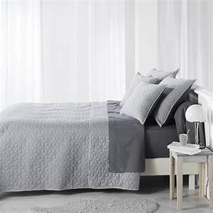 Couvre Lit 220x240 : couvre lit 2 personnes matelass 220x240 jersey cubix gris les douces nuits de ma linge de ~ Teatrodelosmanantiales.com Idées de Décoration