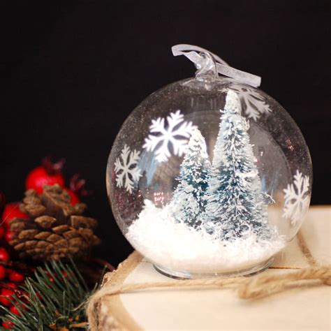 glass christmas tree hanging tree bauble decoration by