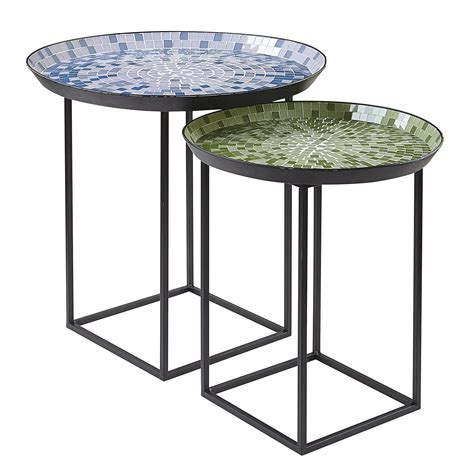 Garden Oasis Mosaic Nesting Tables. Patio Furniture Seat Covers. Metal Patio Furniture Set. Concrete Patio Around Pool Ideas. How To Put A Patio In Your Backyard. Max Studio Home Patio Furniture. Build Flagstone Patio Uneven Ground. Exterior Patio Sliding Doors. Designer Patio Furniture Toronto