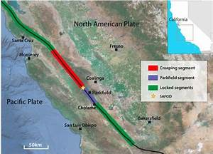 Location Map Of The San Andreas Fault  Saf  And Safod