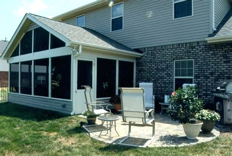 Screened In Porch Cost Calculator by Screened Patio Backyard Cost Cheap Enclosed Patios Designs