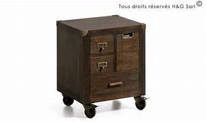 Chevet Bois Massif : table de chevet bois massif design industriel table de nuit ~ Teatrodelosmanantiales.com Idées de Décoration