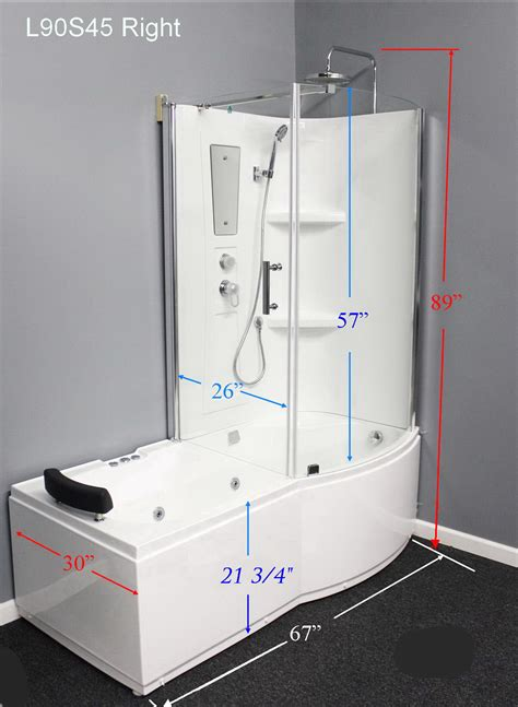 Air Jet Tub Shower Combo by L90s45 W Right Whirlpool Tub Shower Combo With