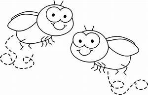 Black and White Flies Clip Art - Black and White Flies Image