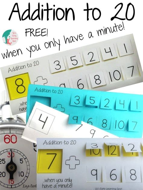Addition to 20 When You Only Have A Minute | Math addition ...