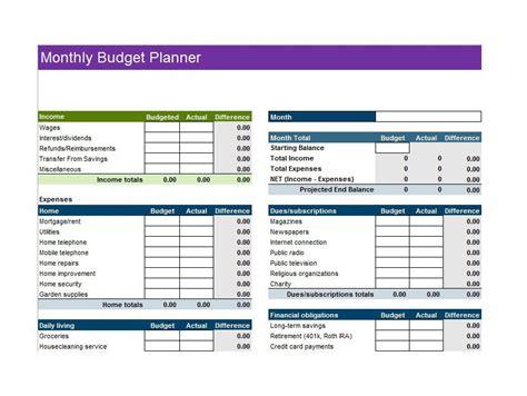budget templates budget worksheets excel