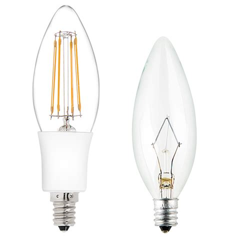 b10 led filament bulb 35 watt equivalent candelabra led