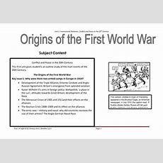 Unit 1 Causes Of World War 1 By Sapphiresaddique  Teaching Resources Tes