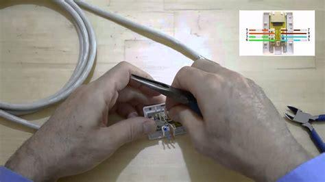 comment monter et tester un boitier mural rj45 pour r 233 seau ethernet