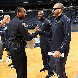 Coach David Fizdale & Coaching Staff Host Grizzlies Police ...